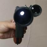 แสงสว่างจากหลอดLED ที่อยู่ในลำกล้อง
